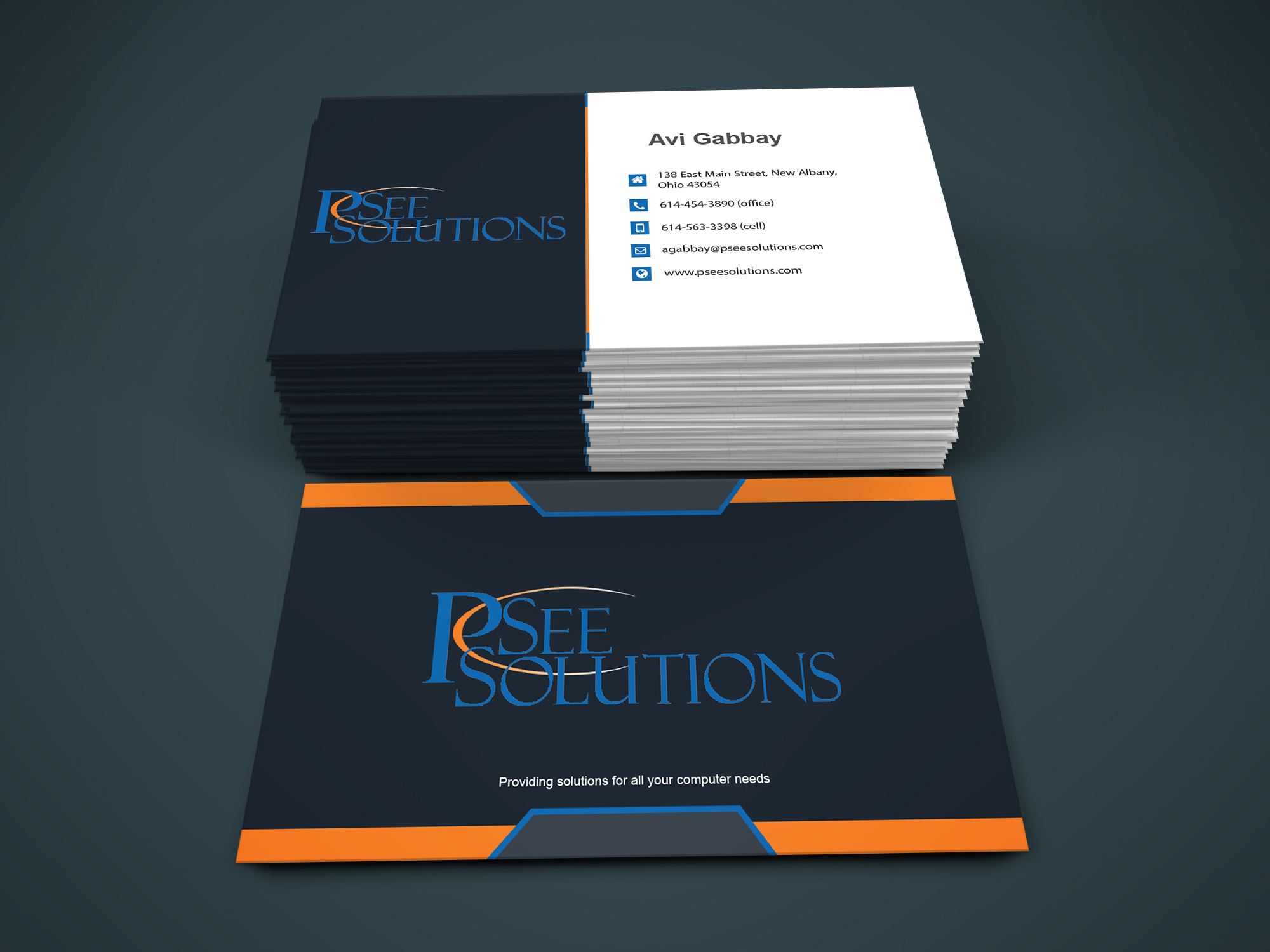 Create 2 modern and professional business cards by infinitetech128 reheart Images