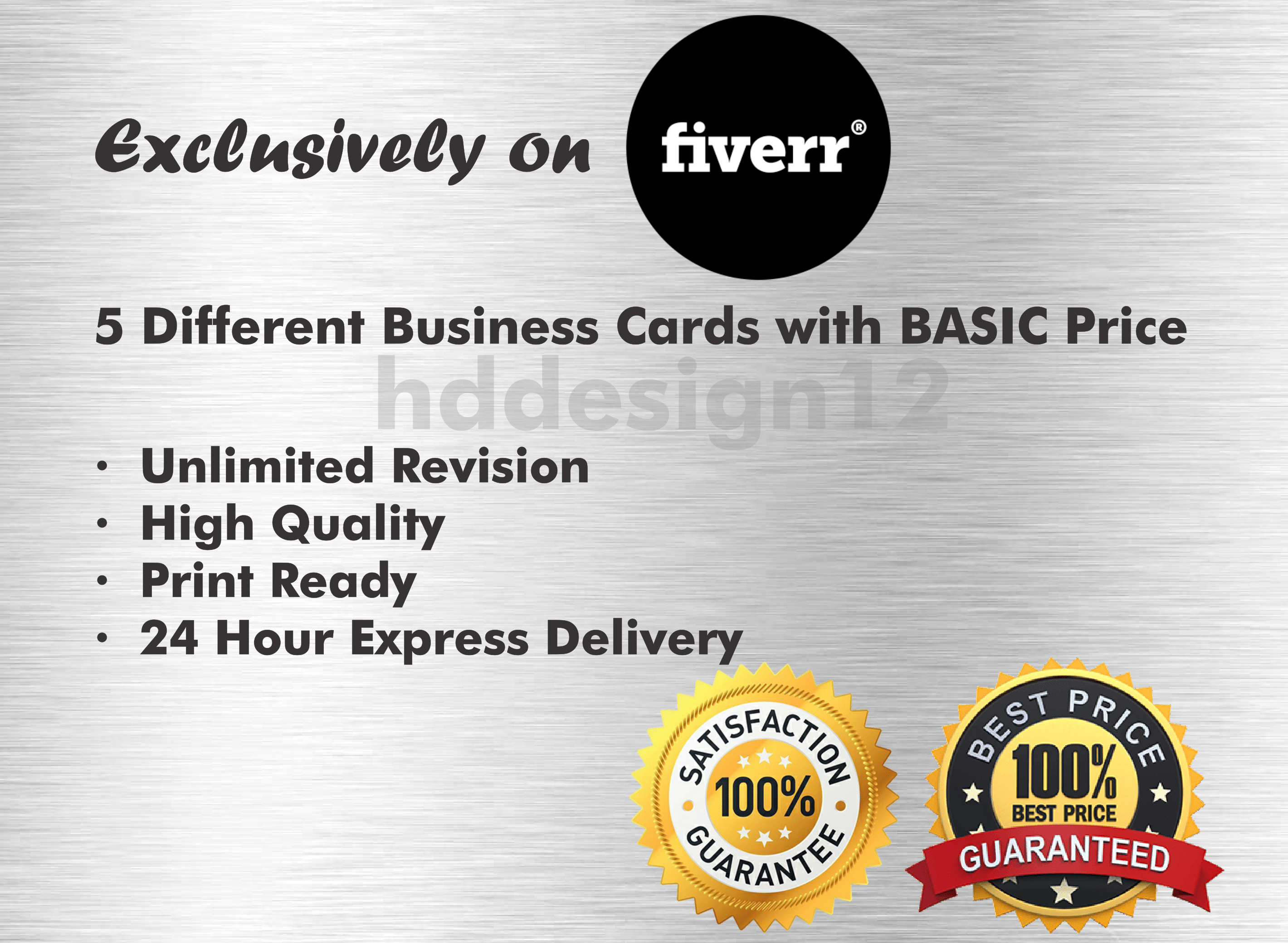Design 3 different amazing business cards with basic price by Hddesign12