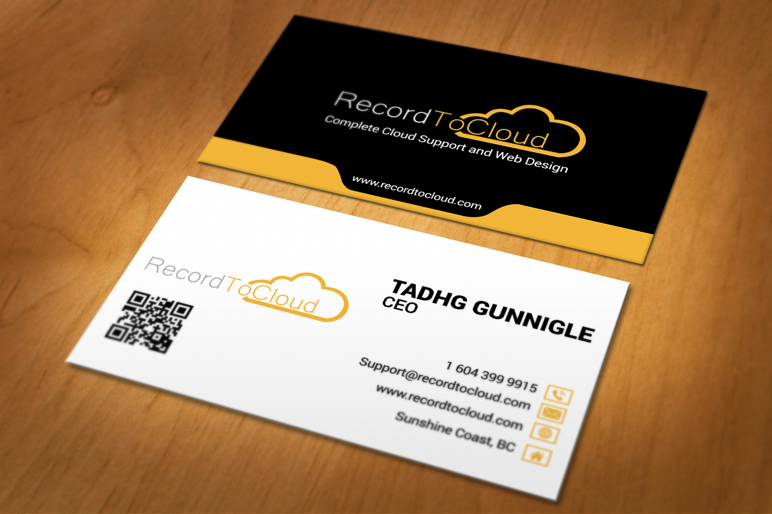 Do professional 2 sided business card design by rahuldas406 reheart Image collections