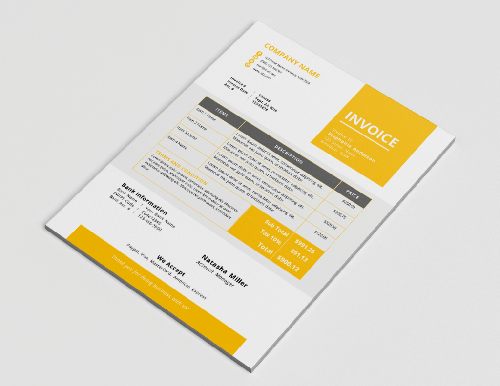 design professional invoice template by nazmussakib85