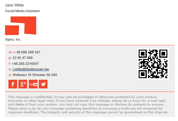 design an amazing clickable html email signature by peaceful_protik - Simple Past Beispiele