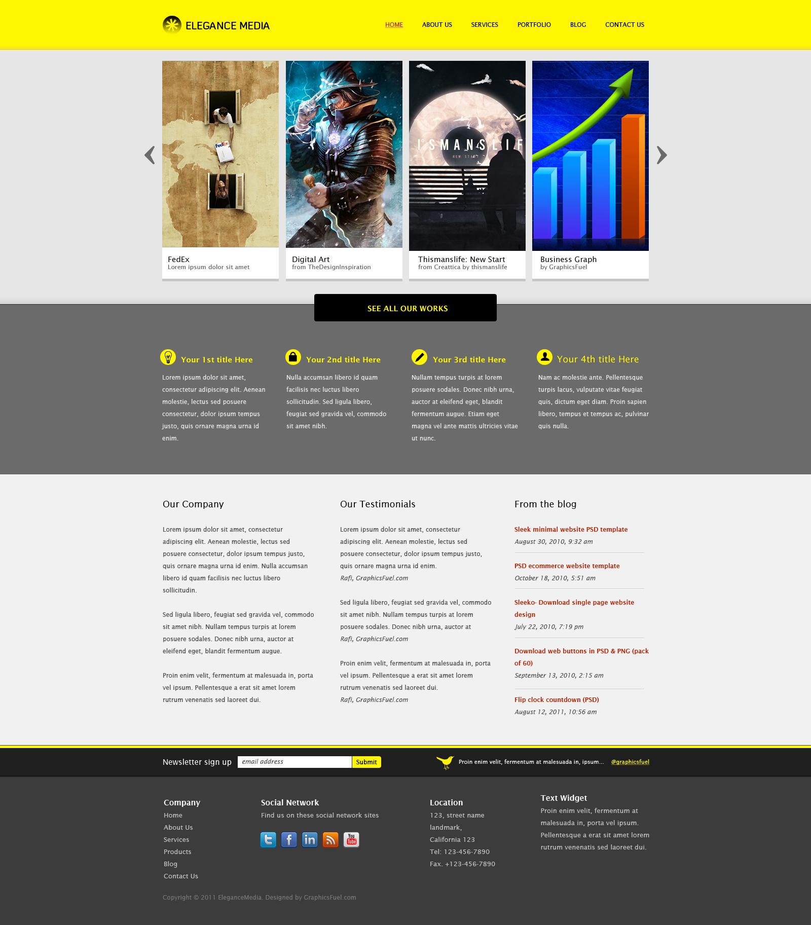 design psd website template by bushraali901